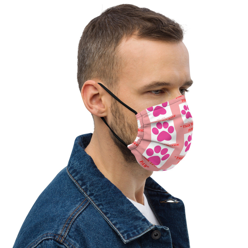 """ TALK TO THE PAW "" DOG DESIGN Premium face mask"