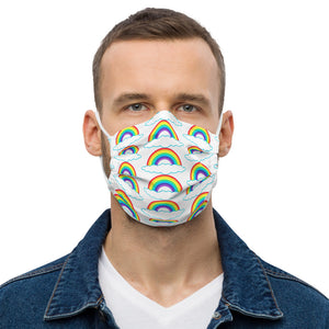 BEAUTIFUL & COLORFUL RAINBOW DESIGN Premium face mask