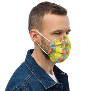 Colorful Balloons Design Premium face mask