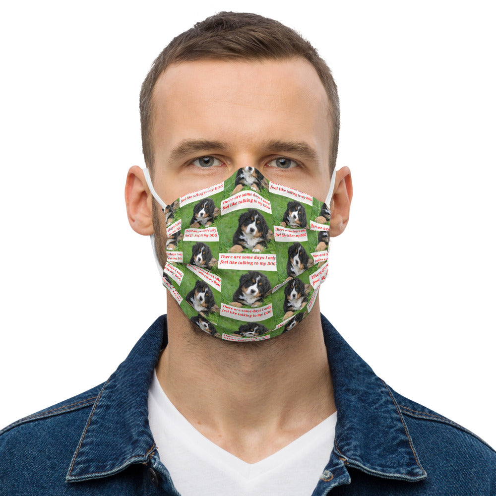 CUTE DOG DESIGN Premium face mask