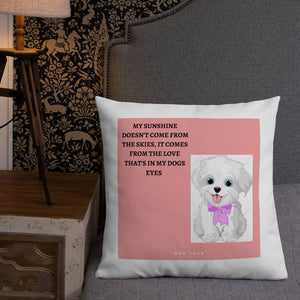 ADORABLE AND CUTE DOG DESIGN Premium Pillow
