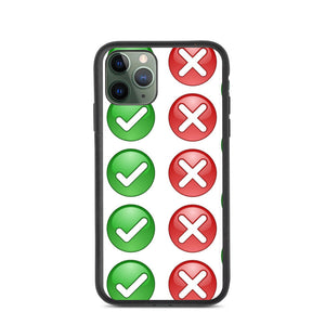 CHECK WRONG DESIGN Biodegradable phone case