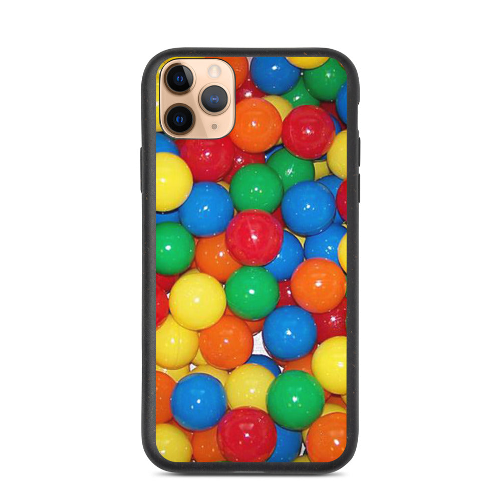 COLORFUL BALLS DESIGN Biodegradable phone case