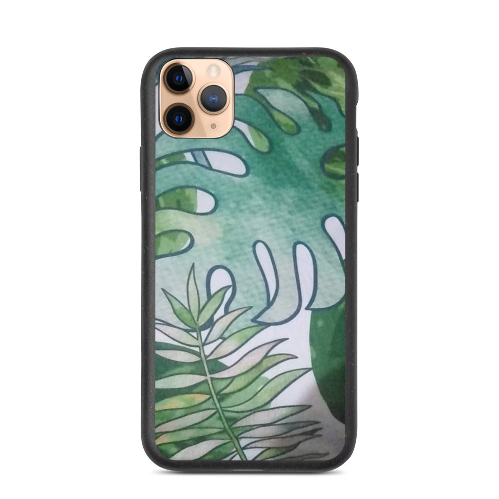 GREEN LEAVES DESIGN Biodegradable phone case