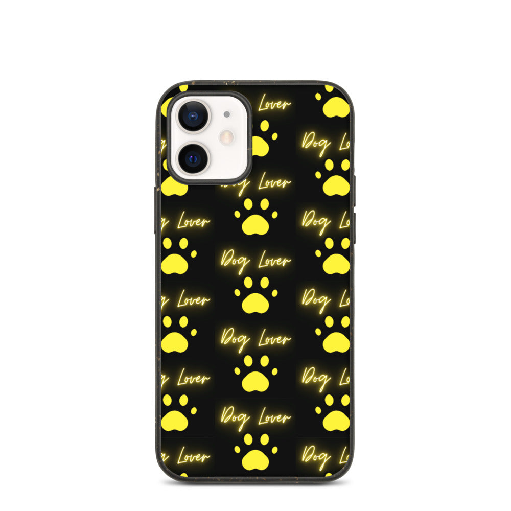 DOG LOVER WITH PAW DESIGN Biodegradable phone case