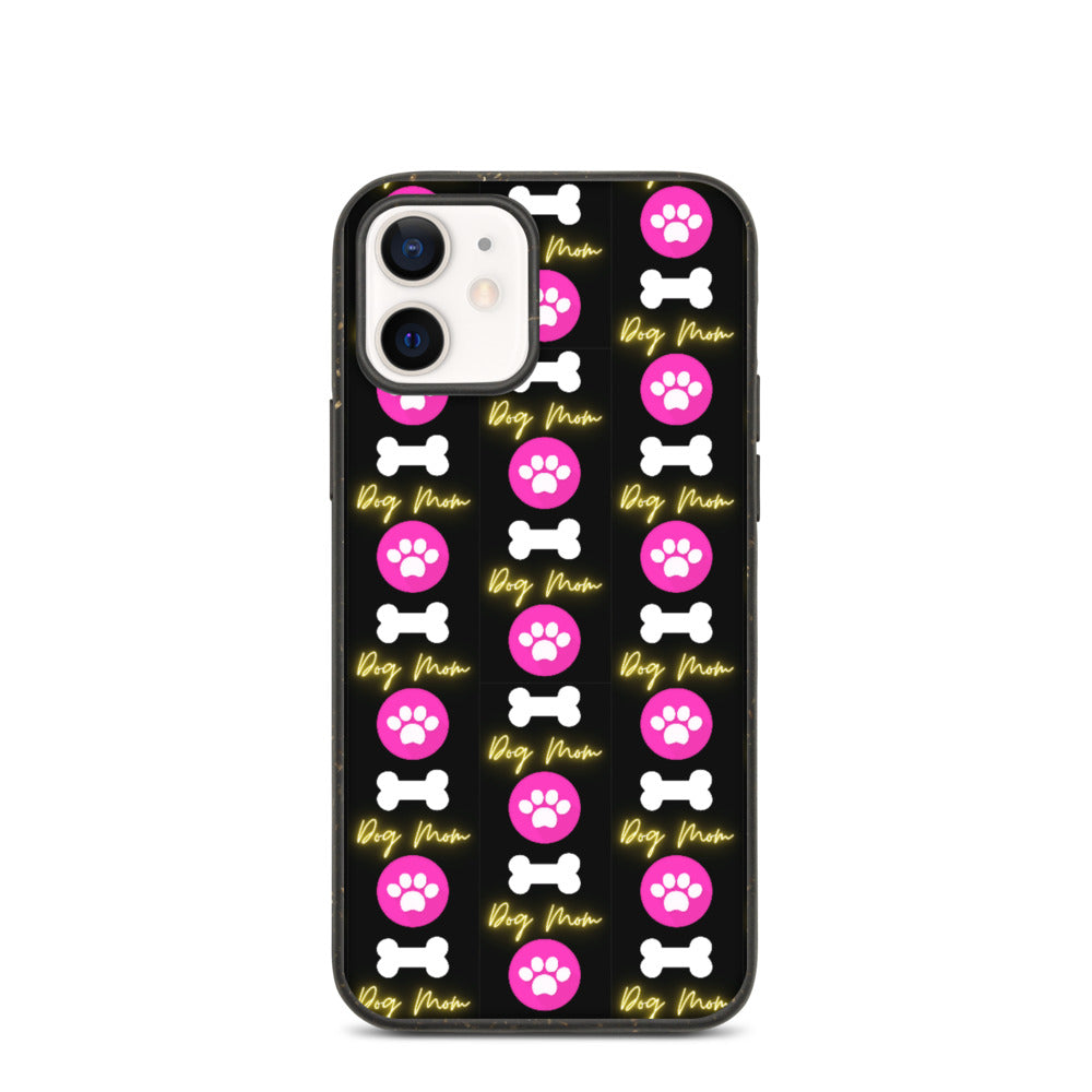 DOG MOM WITH BONE AND PAW DESIGN Biodegradable phone case