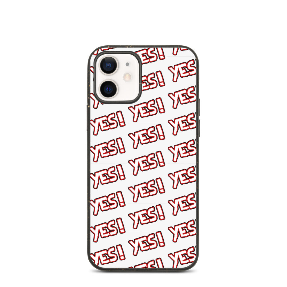 """ YES "" PRINT DESIGN Biodegradable phone case"