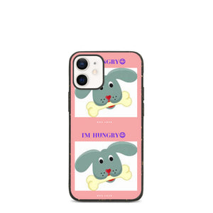 """ I'M HUNGRY "" DOG DESIGN Biodegradable phone case"