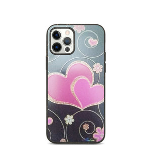 PINK HEARTS DESIGN Biodegradable phone case