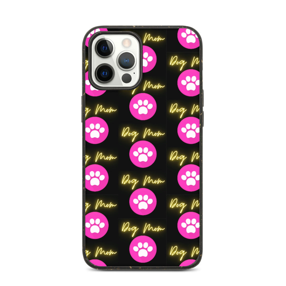 DOG MOM WITH PAW DESIGN Biodegradable phone case