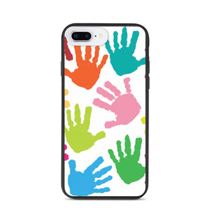 HAND PRINT DESIGN Biodegradable phone case