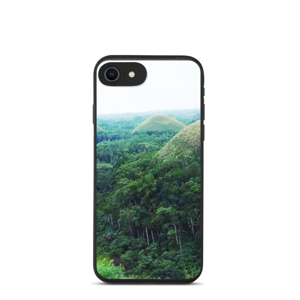 CHOCOLATE HILLS IN BOHOL PHILIPPINES DESIGN Biodegradable phone case