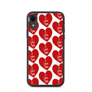 """ I LOVE YOU "" PRINT DESIGN Biodegradable phone case"