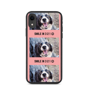 """ SMILE IN 3..2..1.. "" DOG DESIGN Biodegradable phone case"