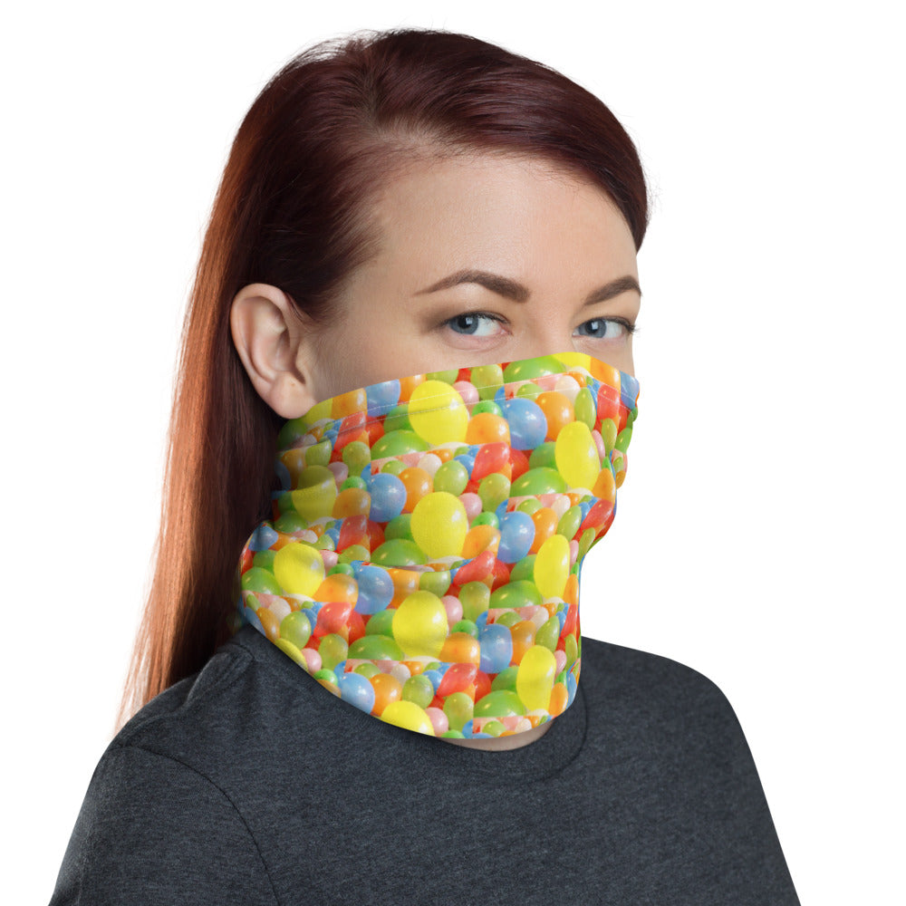 Colorful Balloons Design Face Mask Neck Gaiter