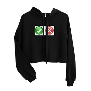 CHECK WRONG DESIGN Crop Hoodie