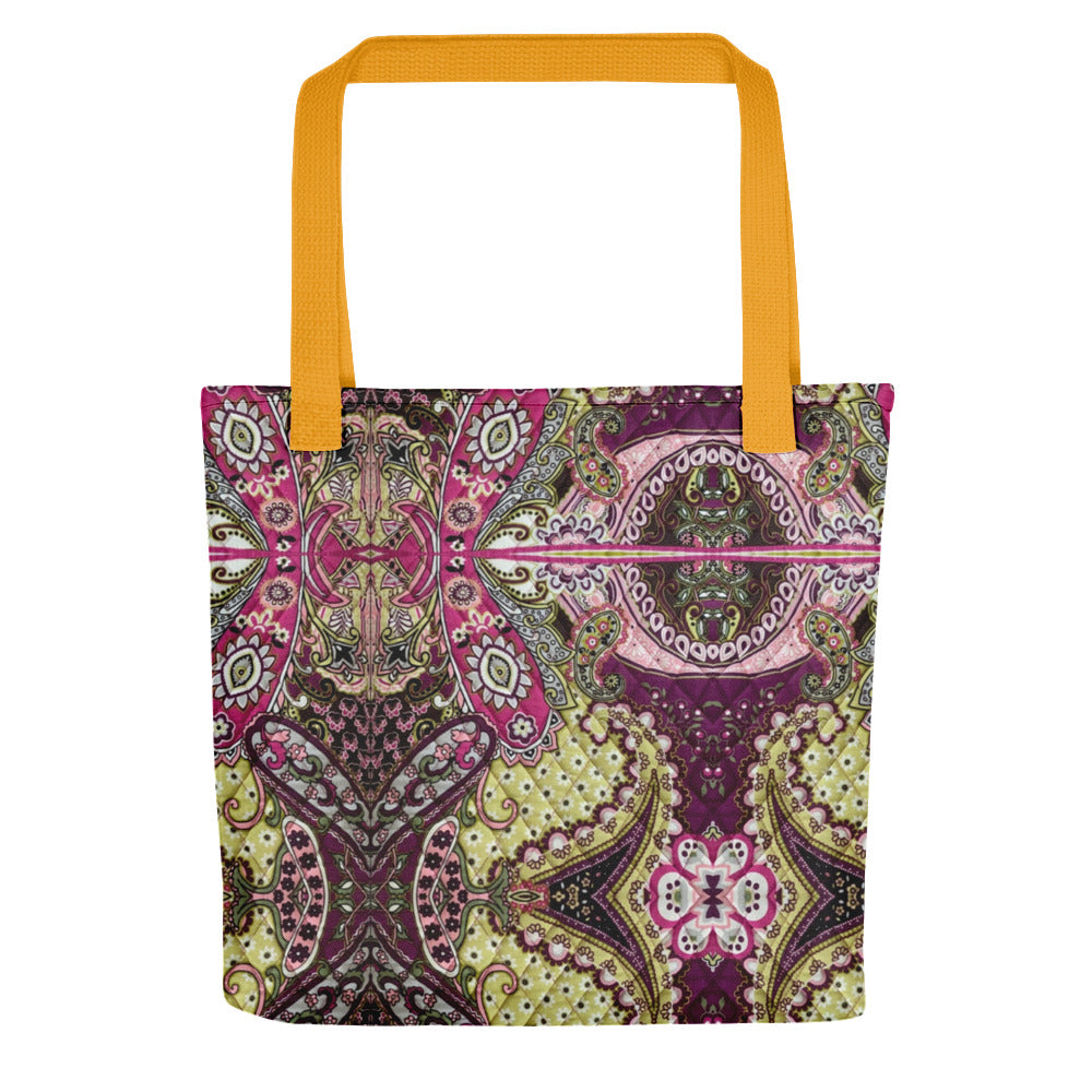 Red Pink Paisley Tote bag