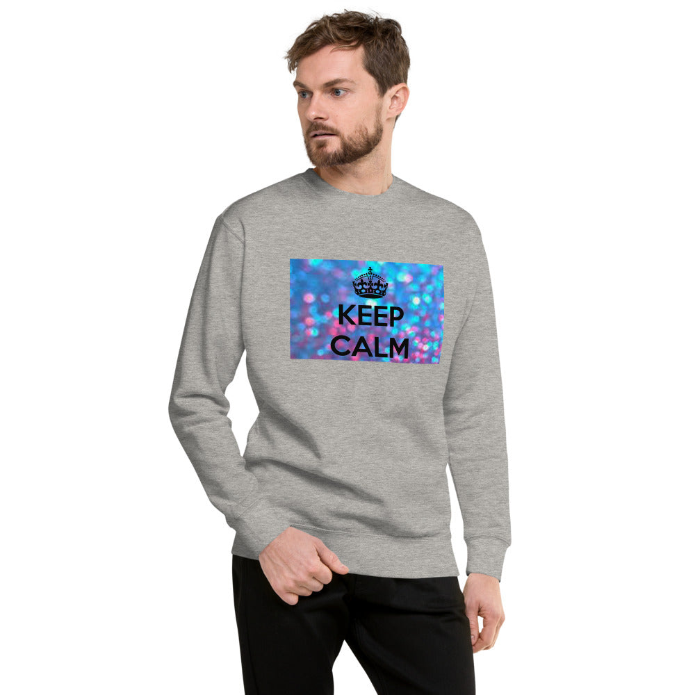 """ Keep Calm "" Print Design Unisex Fleece Pullover"