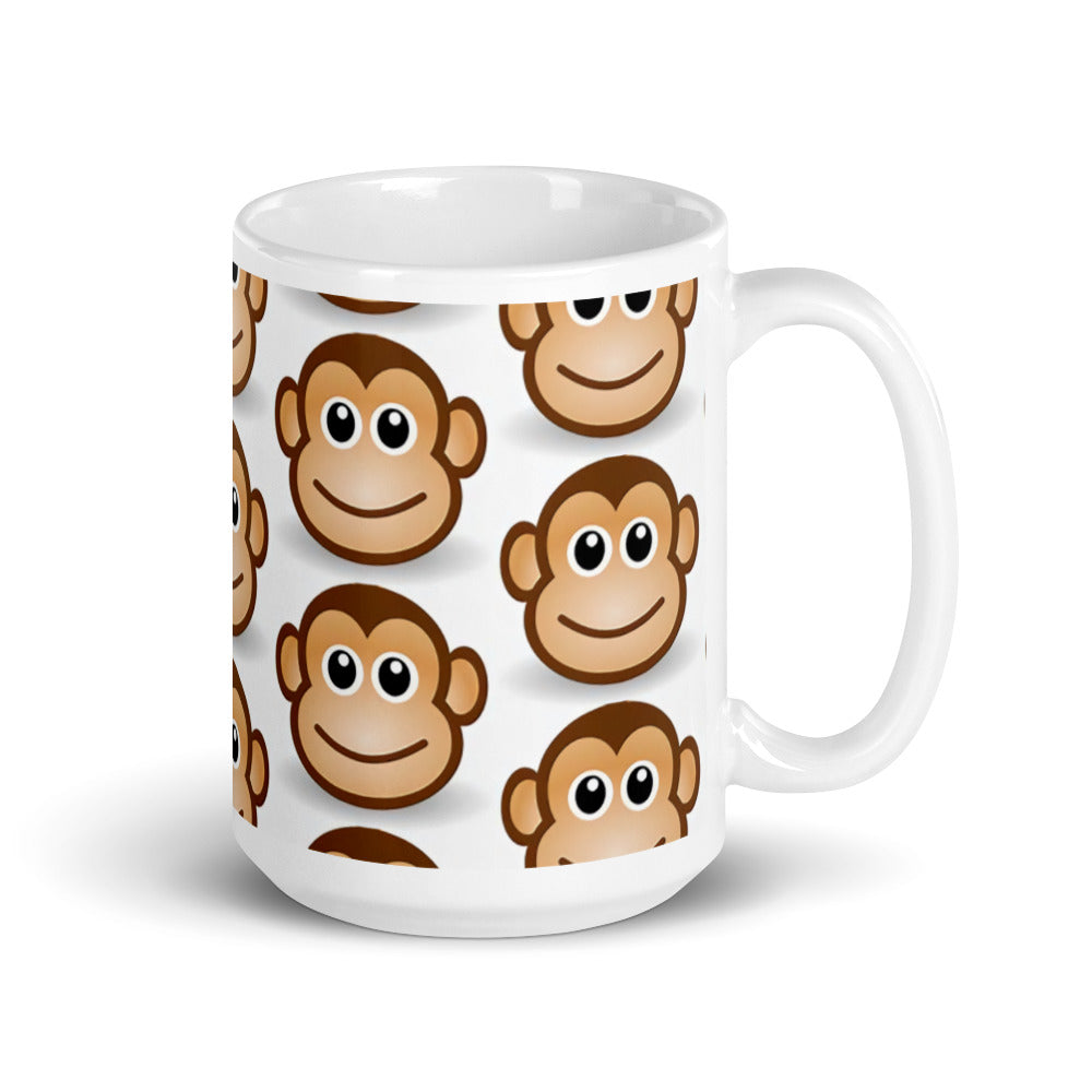 Monkey Face Design Mug