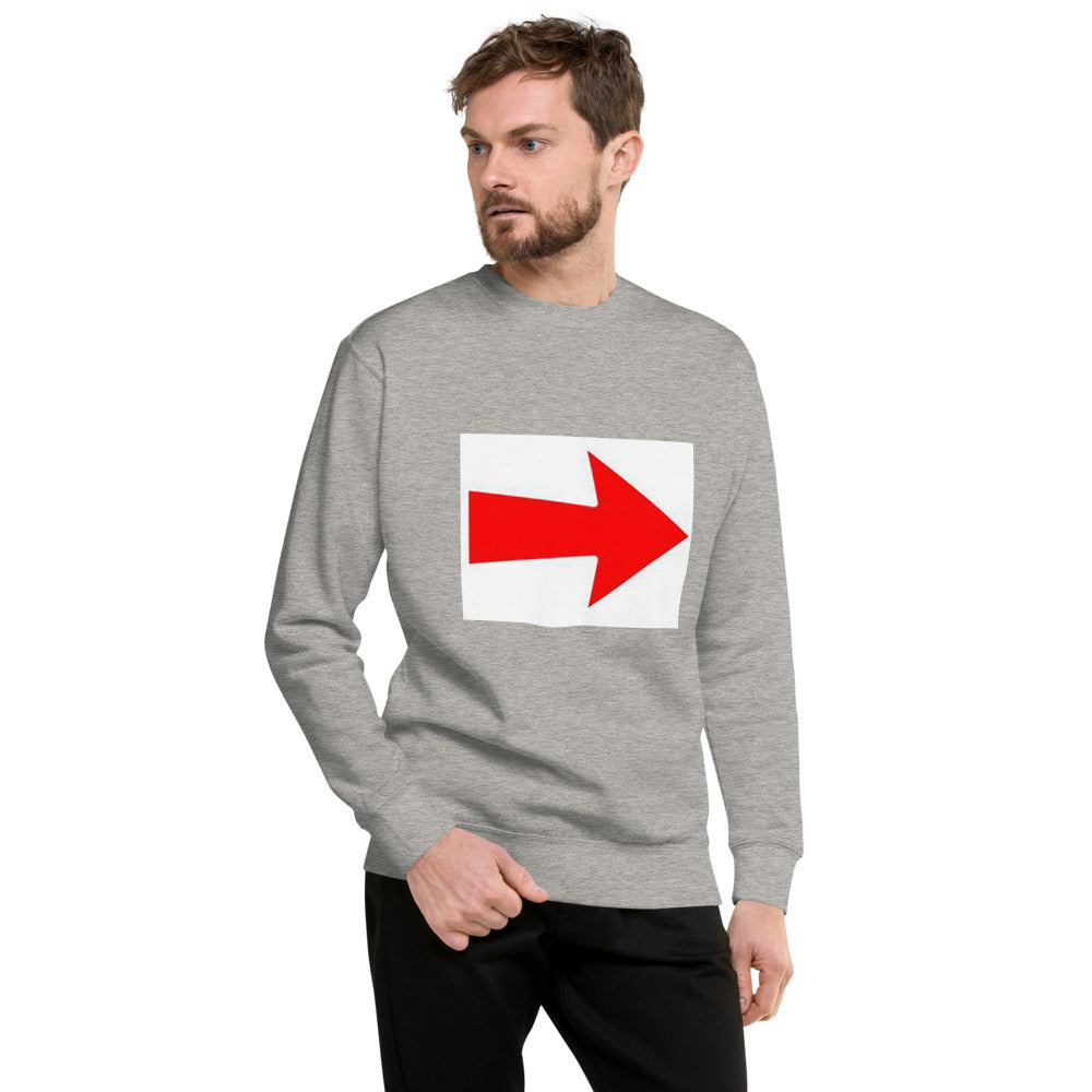 Arrow Design Unisex Fleece Pullover