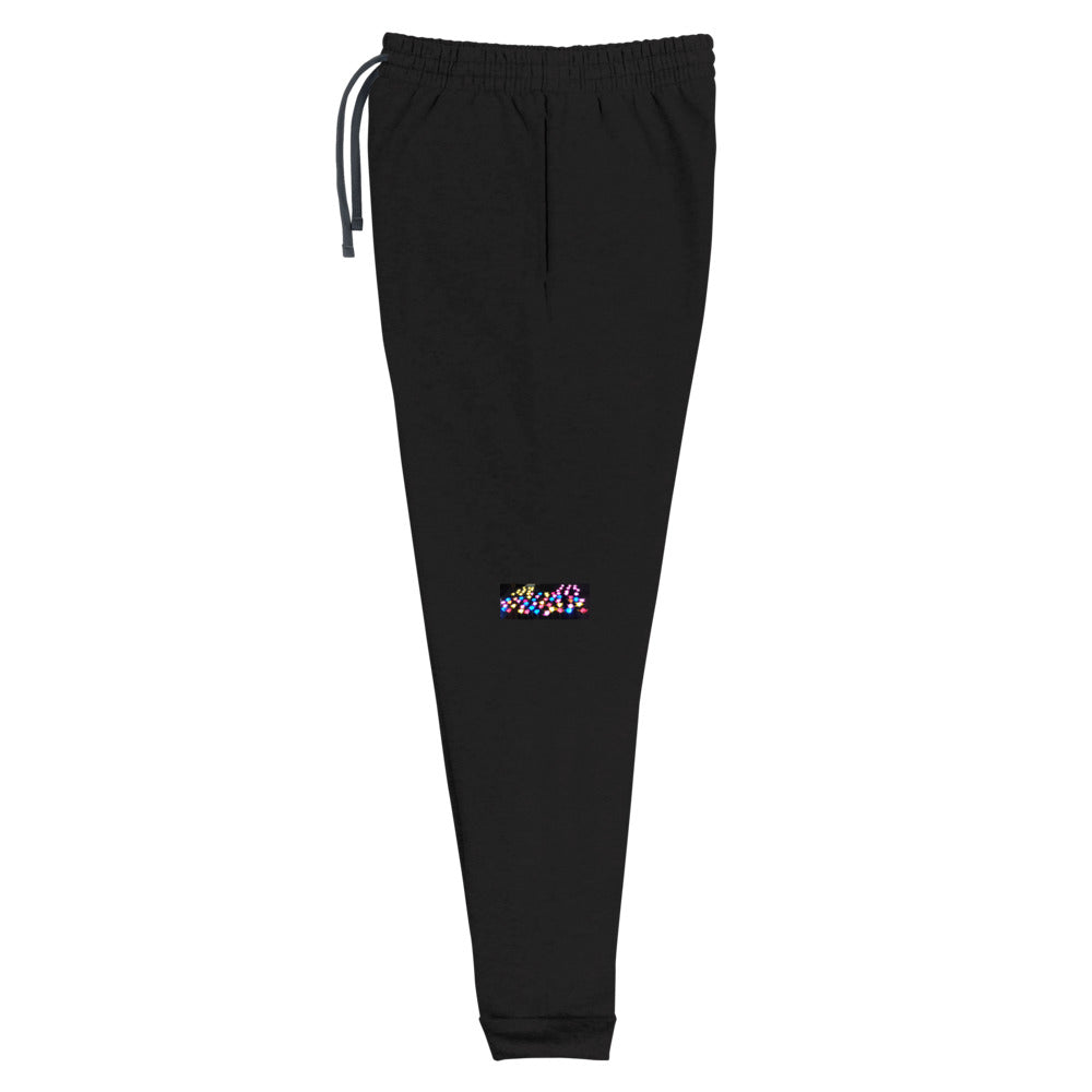 Lighted Flowers Design Unisex Joggers