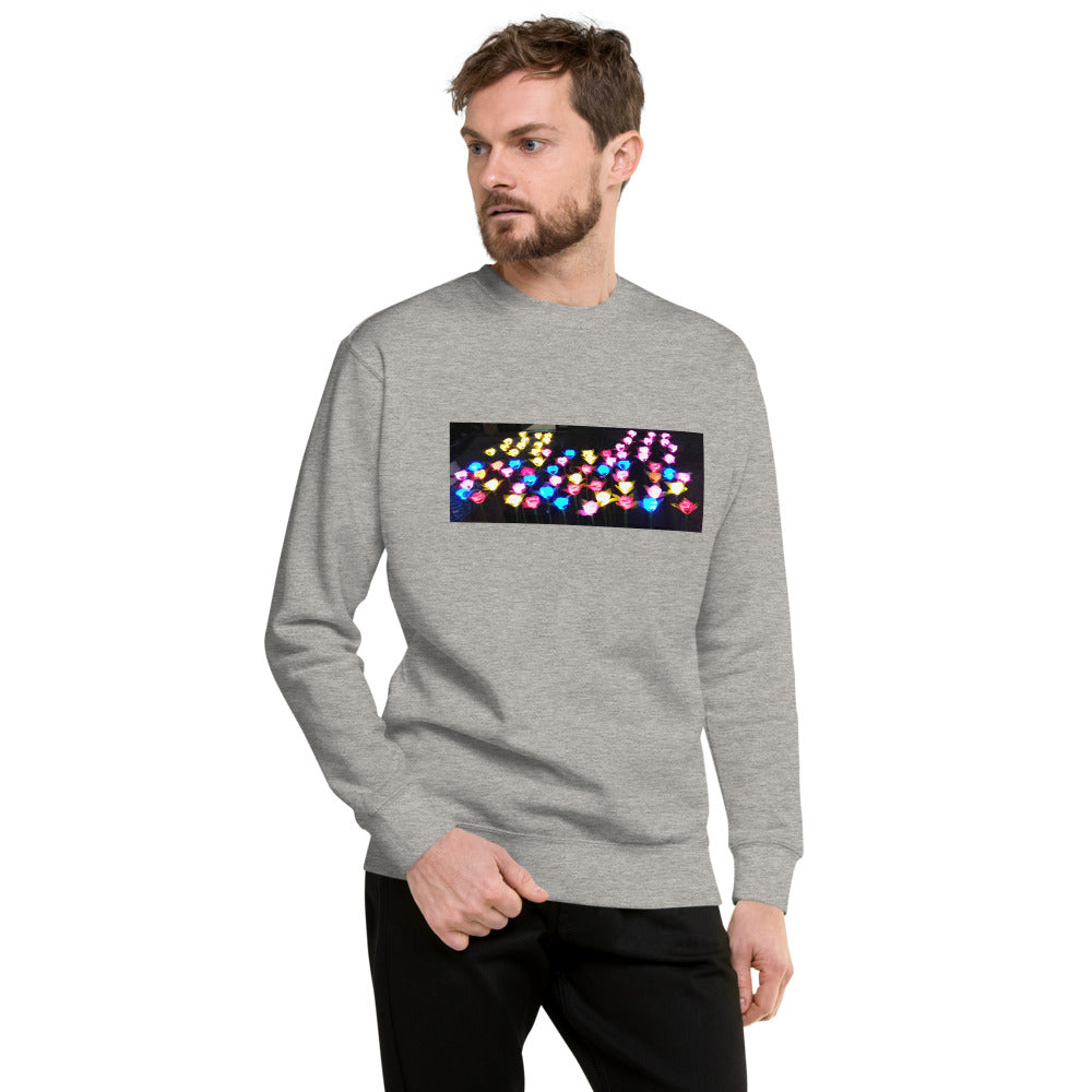 Lighted Flowers Design Unisex Fleece Pullover