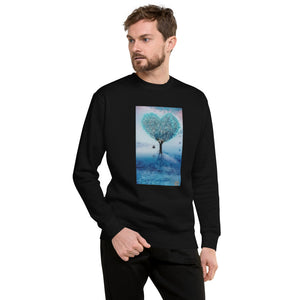 Blue Heart Design Unisex Fleece Pullover