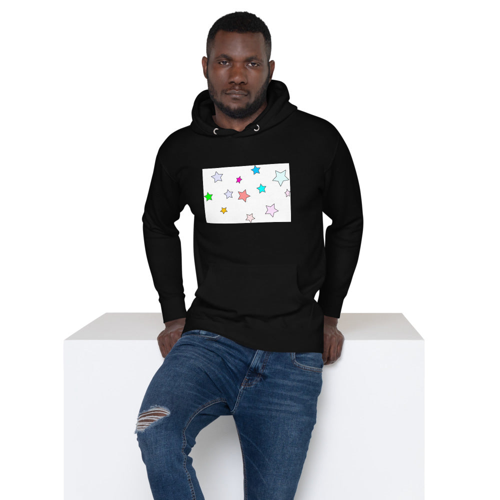 Colorful Stars Design Unisex Hoodie