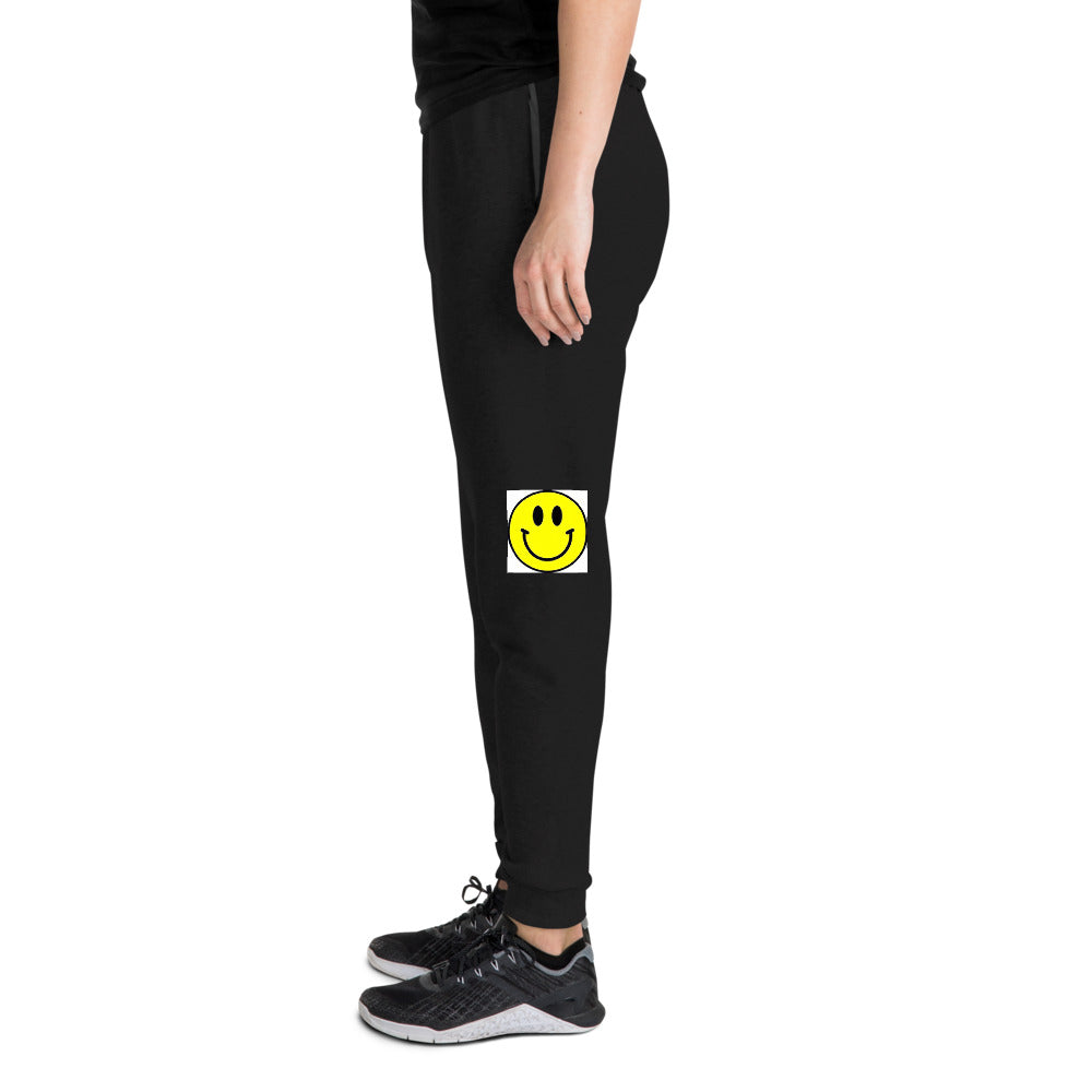 Smiley Face Design Unisex Joggers