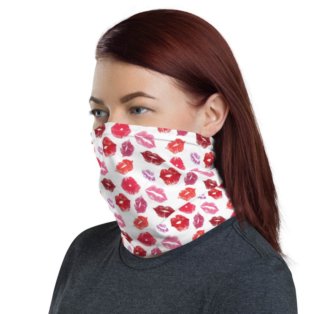 Lip Kisses Design Face Mask Neck Gaiter