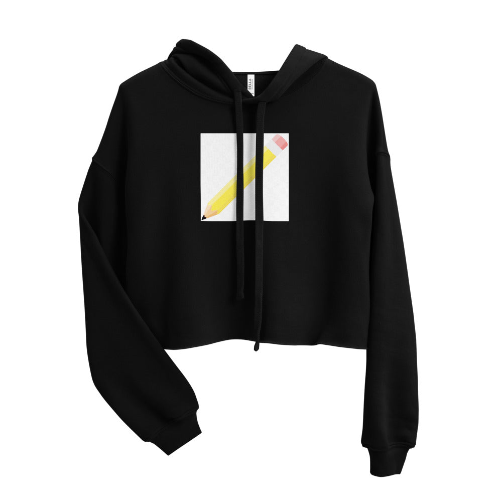PENCIL DESIGN Crop Hoodie