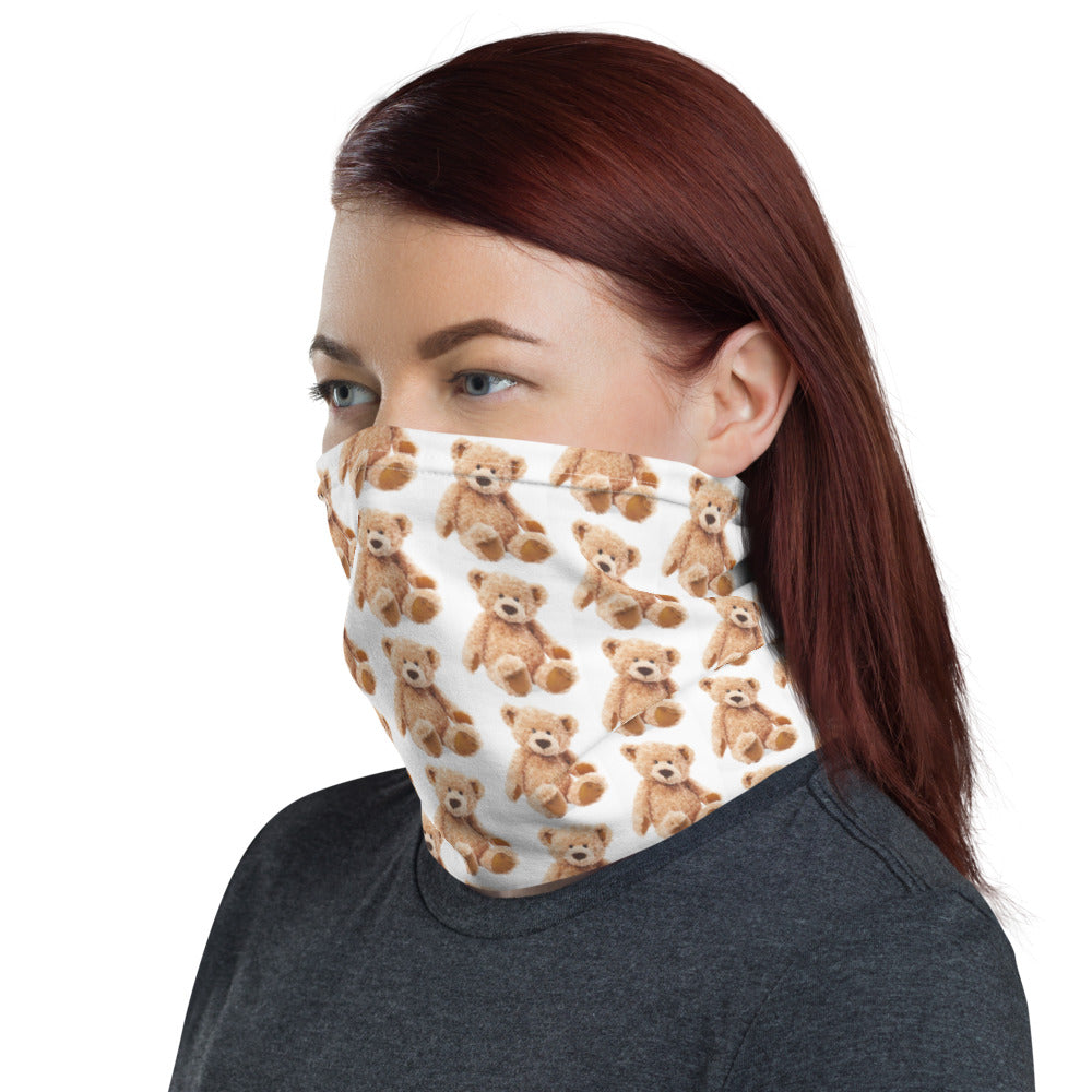 Teddy Bear Design Face Mask Neck Gaiter