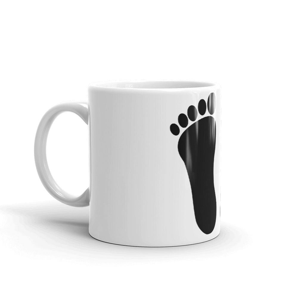 Foot Prints Design Mug