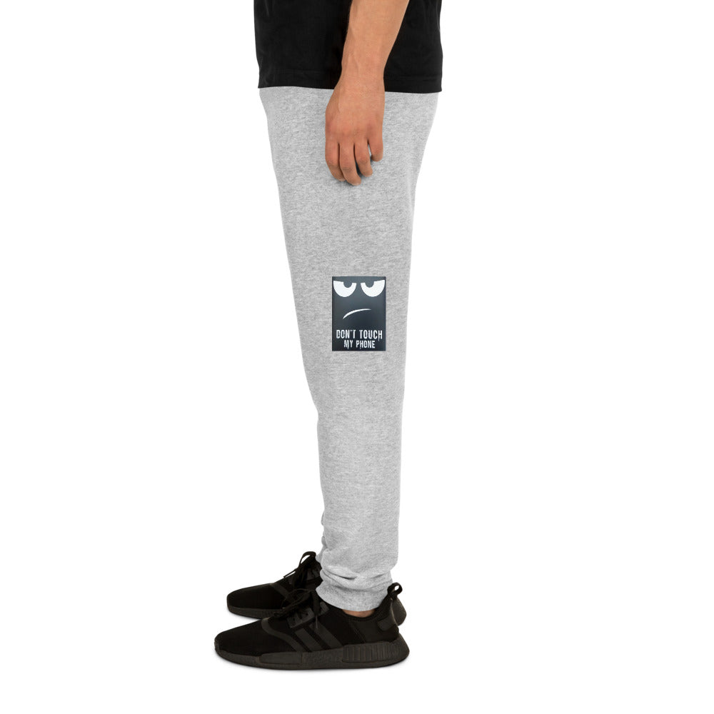""" Don't Touch My Phone "" Print Design Unisex Joggers"