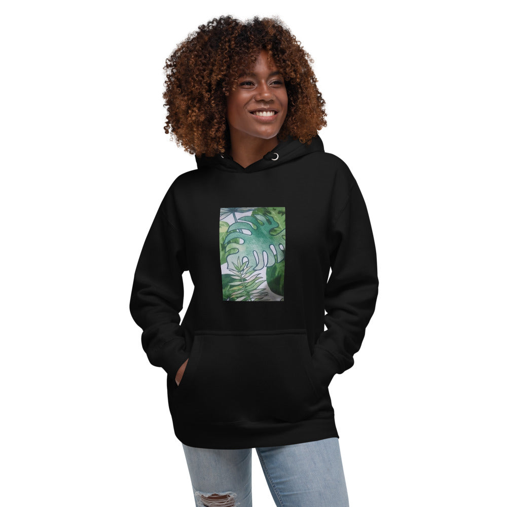 Green Leaves Design Unisex Hoodie