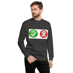 Check Wrong Design Unisex Fleece Pullover