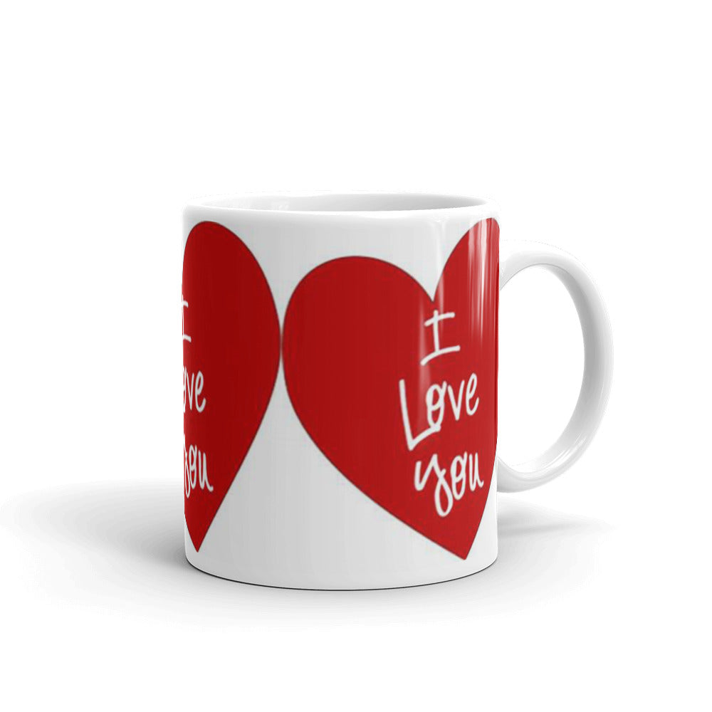 """ I LOve You "" Print Design Mug"