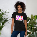 Hearts Design Short-Sleeve Unisex T-Shirt