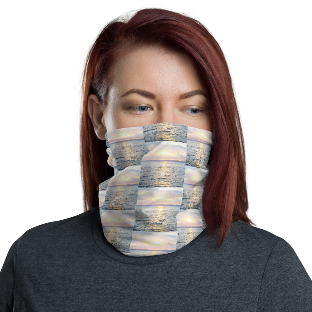 Sunset View Design Face Mask Neck Gaiter