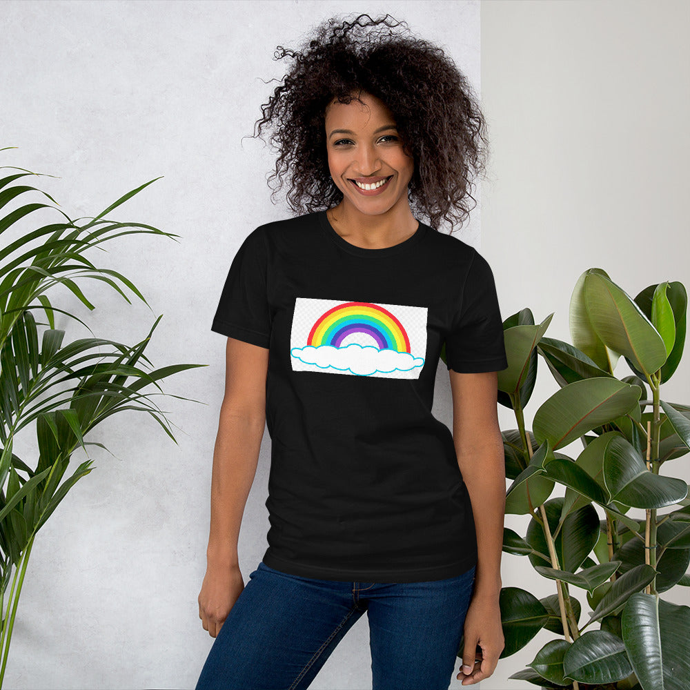 Rainbow Design Short-Sleeve Unisex T-Shirt