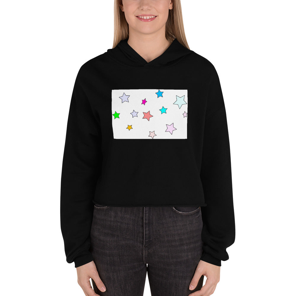 COLORFUL STARS DESIGN Crop Hoodie
