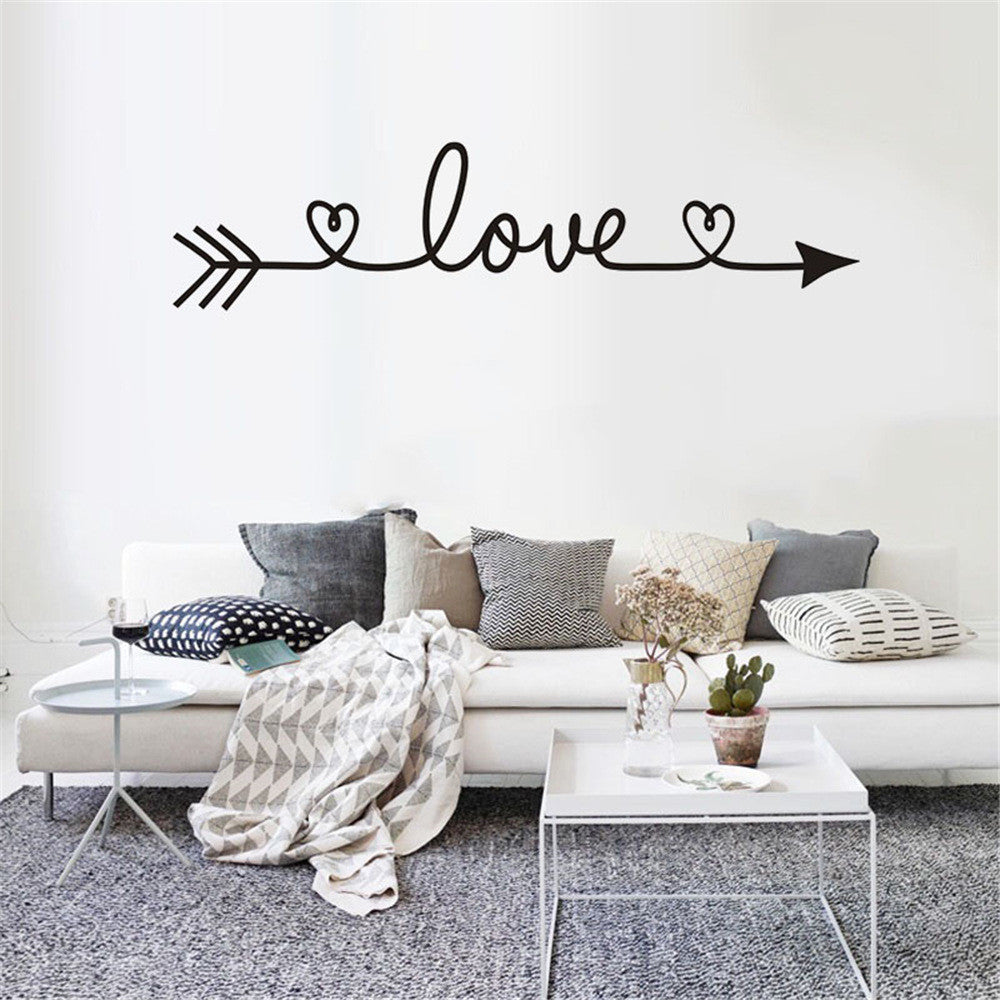 DIY Family Home Wall Sticker LOVE Arrow Living room wall stickers decorative Arts Crafts