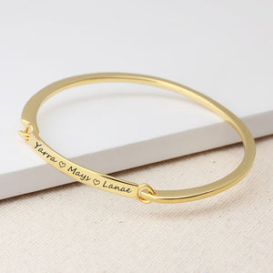 Personalized ID Bracelet Customize Engrave Name 2 Colors Fashion Bracelets & Bangles for Women