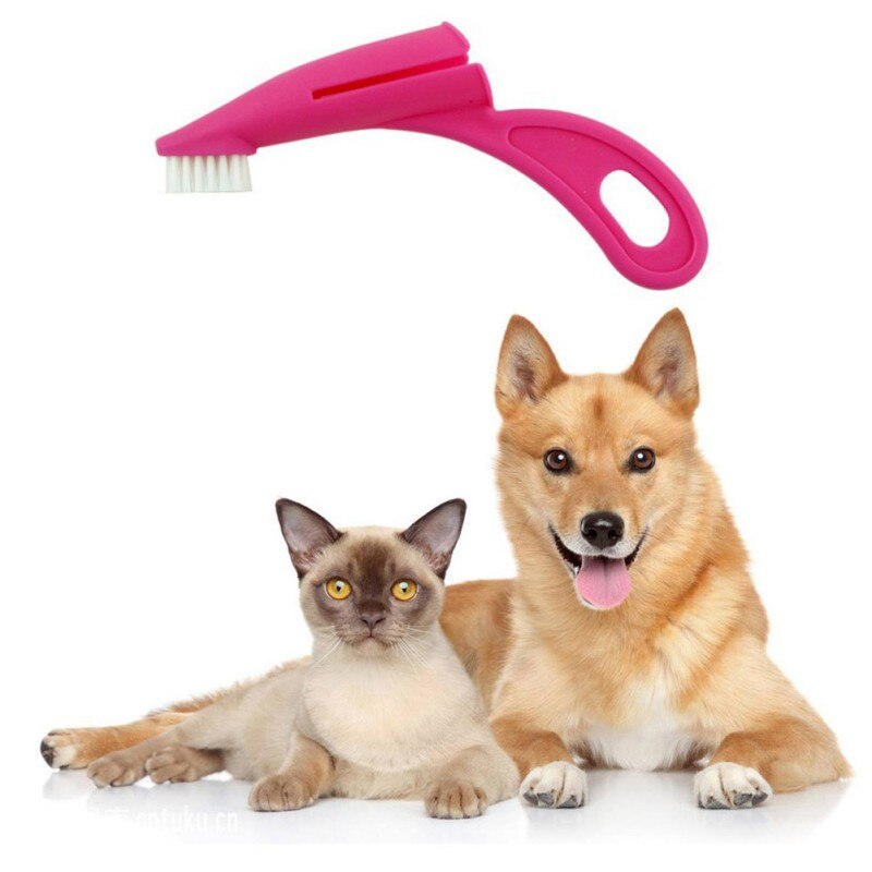 50% OFF Pet Grooming Tool Dog And Cat Finger Wear Type Toothbrush Dental Hygiene Teeth Cleaning Brushes For Oral Cleaning