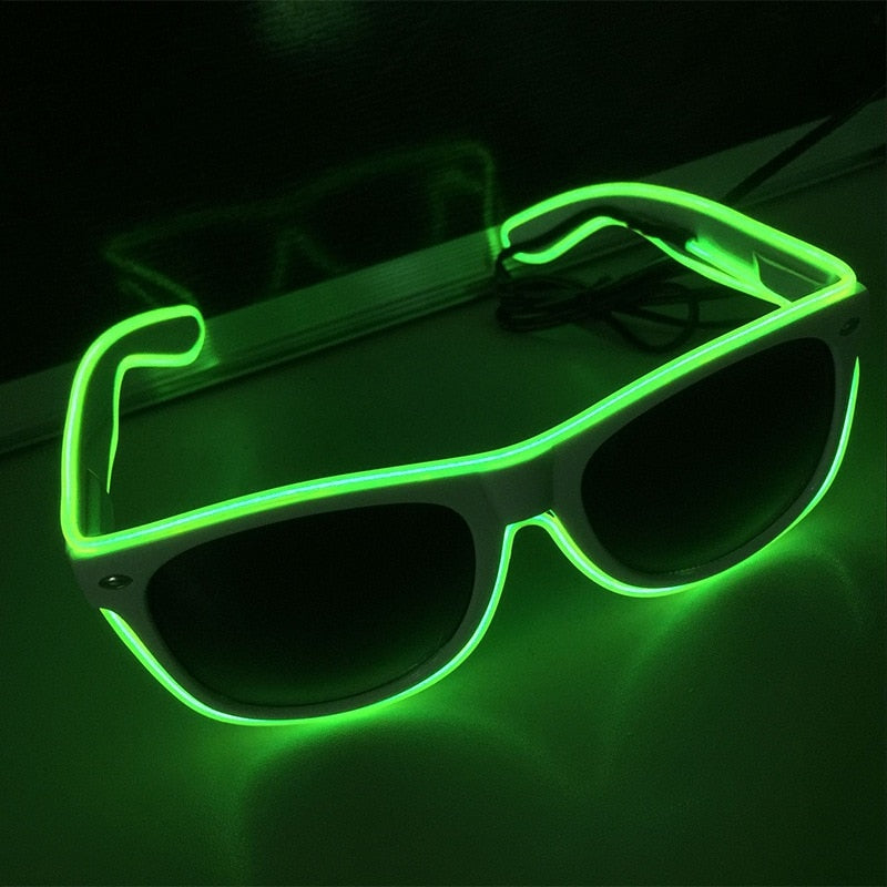 Flashing EL Wire Led Glasses Luminous Party Decorative Lighting Classic Gift Bright LED Light Up Party SunGlasses
