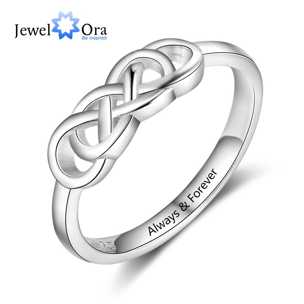 Personalized Wedding Engagement Rings for Women Engraved Name Braided Knot Ring Fashion Jewelry Gift