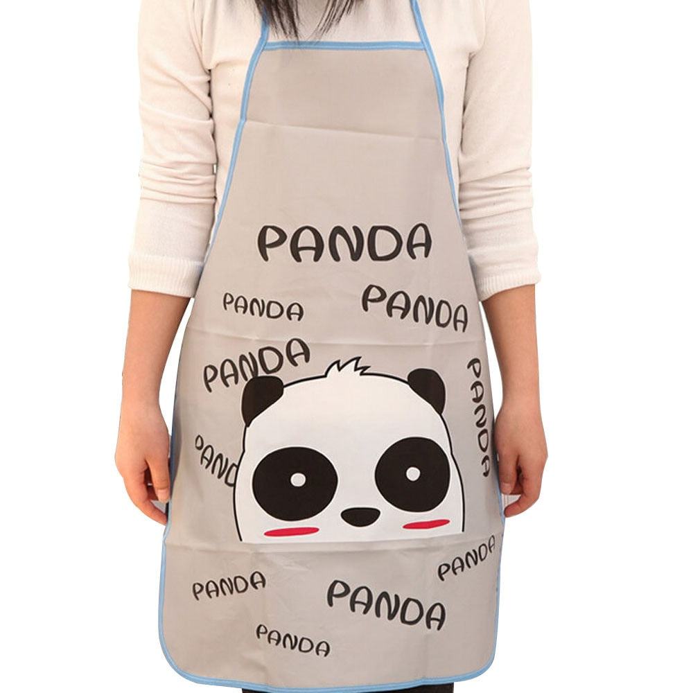 High Quality Fashion Cartoon Animal PVC Waterproof Apron Kitchen Restaurant Cooking Bib Aprons 70*50cm Aprons For Woman