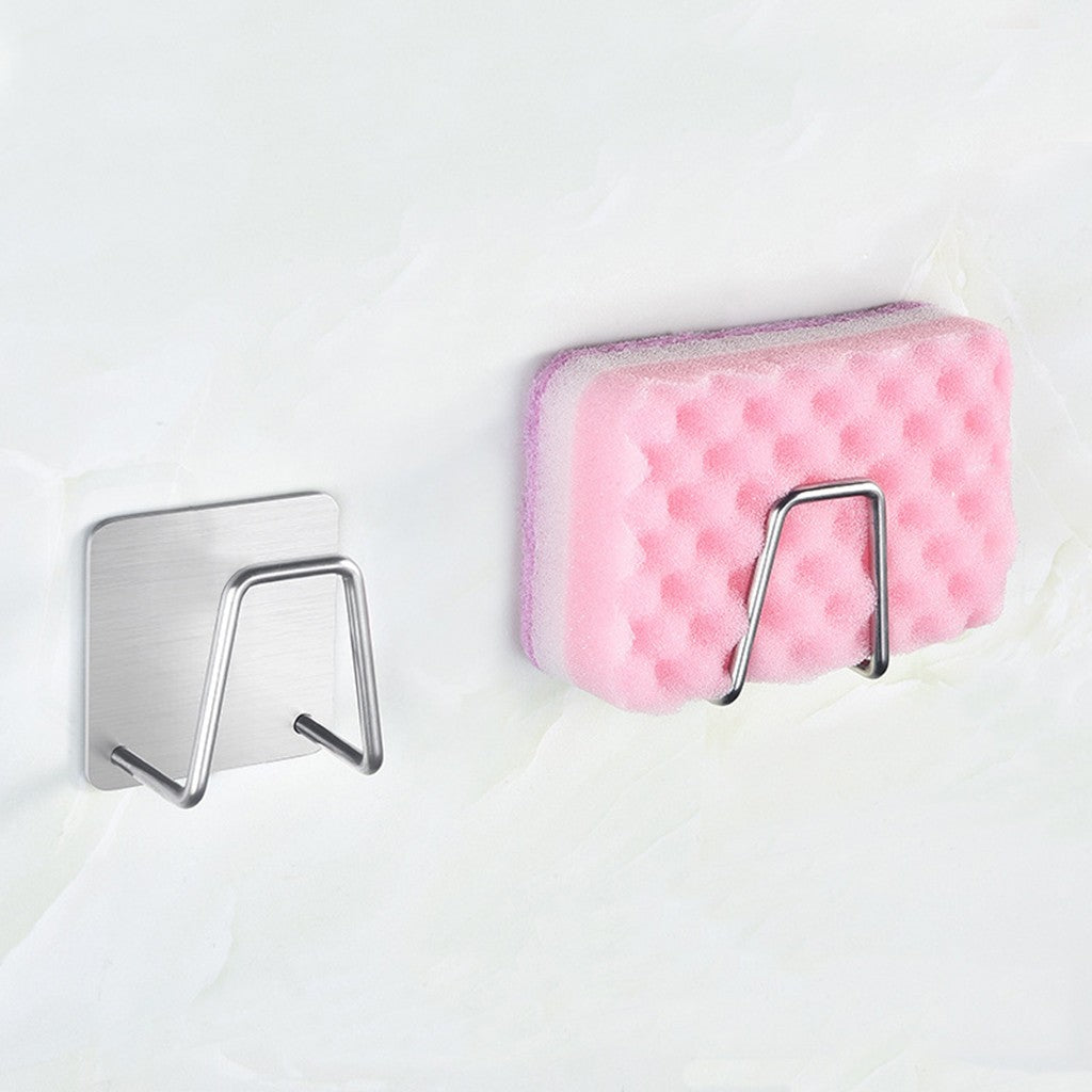 Kitchen Holder Rack Kitchen Organizer Stainless Steel Kitchen Sponge Holder Brush Soap Dishwashing Liquid Drainer