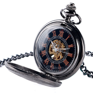 Retro Flower Hollow Exquisite Mechanical Pocket Watch Pendant Gifts for Women Men Hand Winding Steampunk Watch