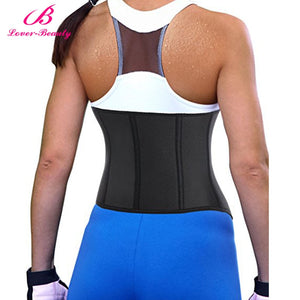 Lover Beauty Women  Sweat Weight Loss Neoprene Workout Top Shirt Waist Trainer Corset Trimmer Belt Body Shaper -A